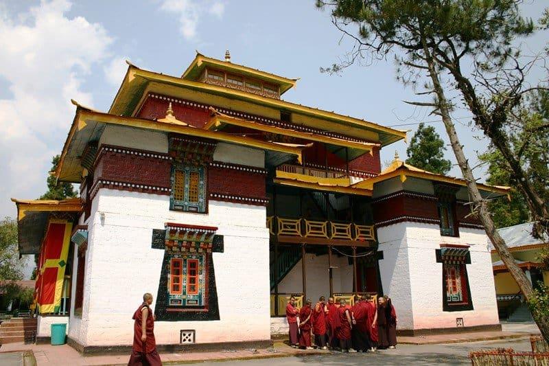 Gangtok Enchey Monastery with Monchs