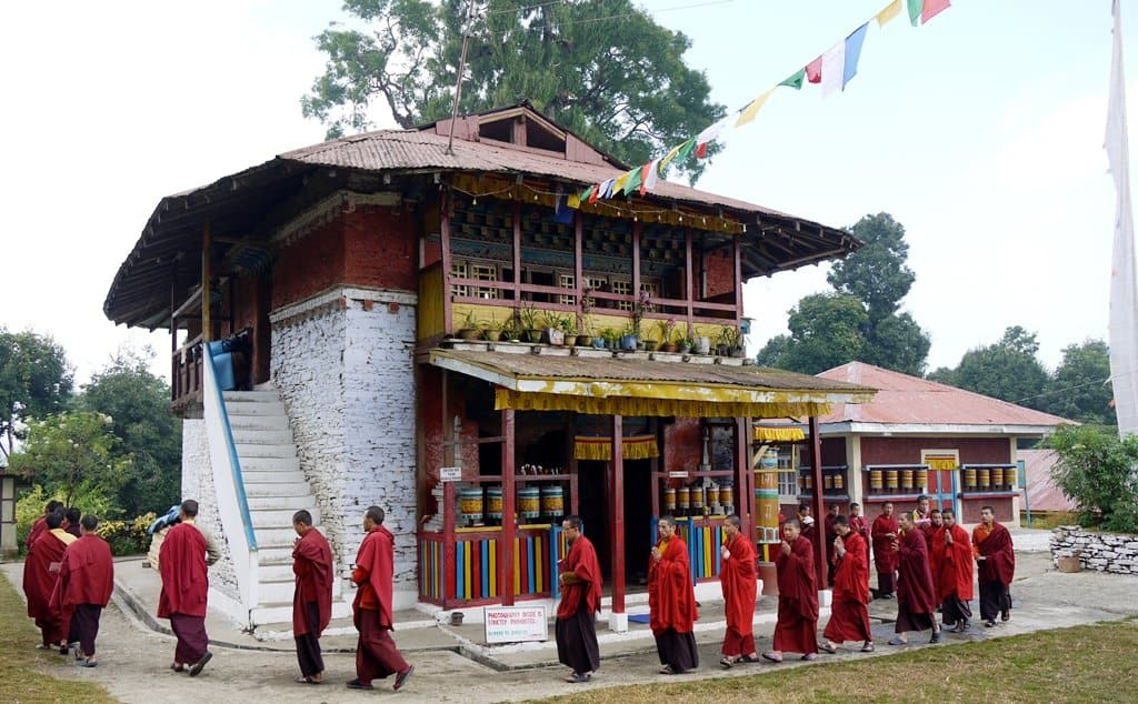 Rinchenpong Monastery with Monchs, Sikkim