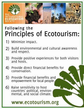 Principles of Ecotourism of Sikkim, vision sustainability social responsibility