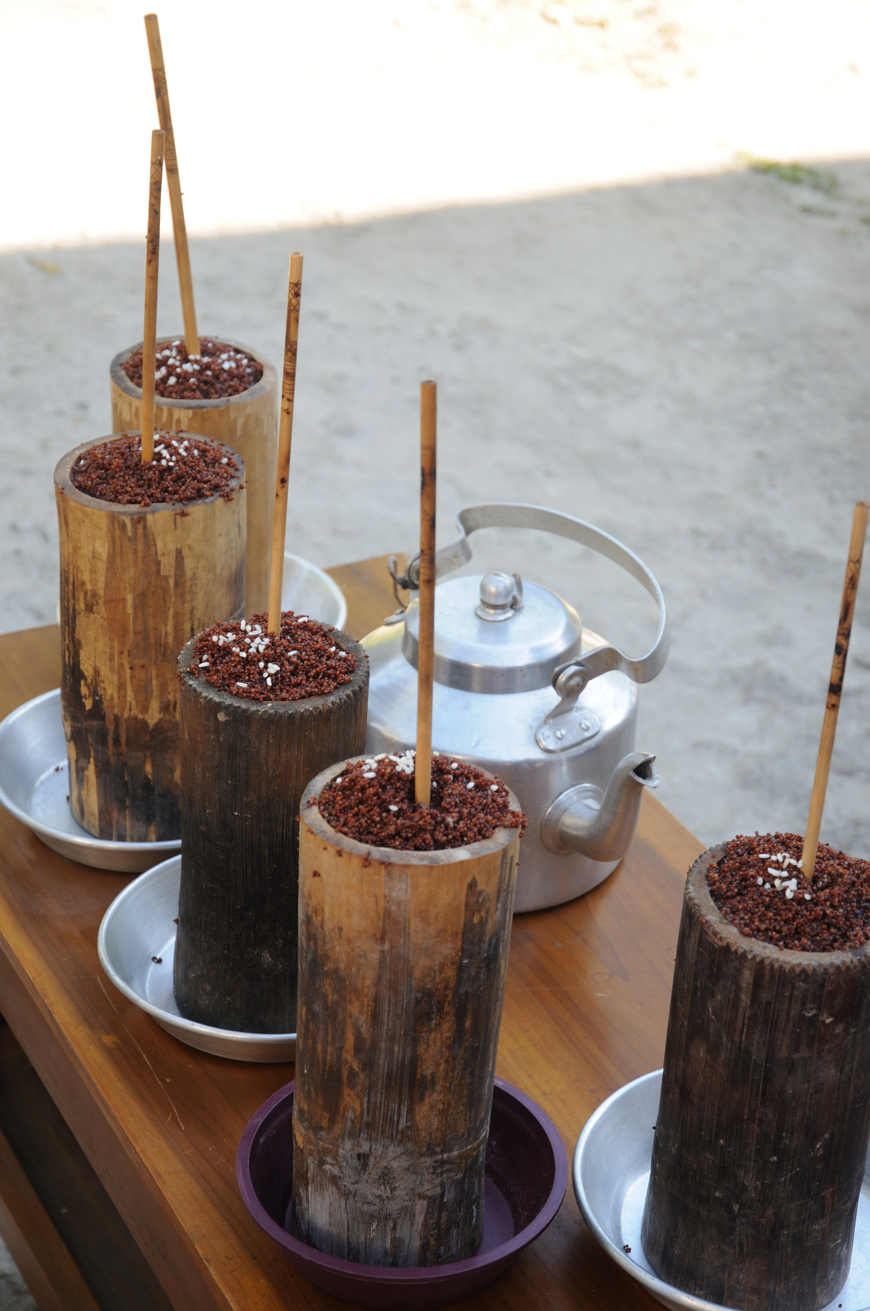 "Sikkim Traditional Millet Beer ""Chang"""