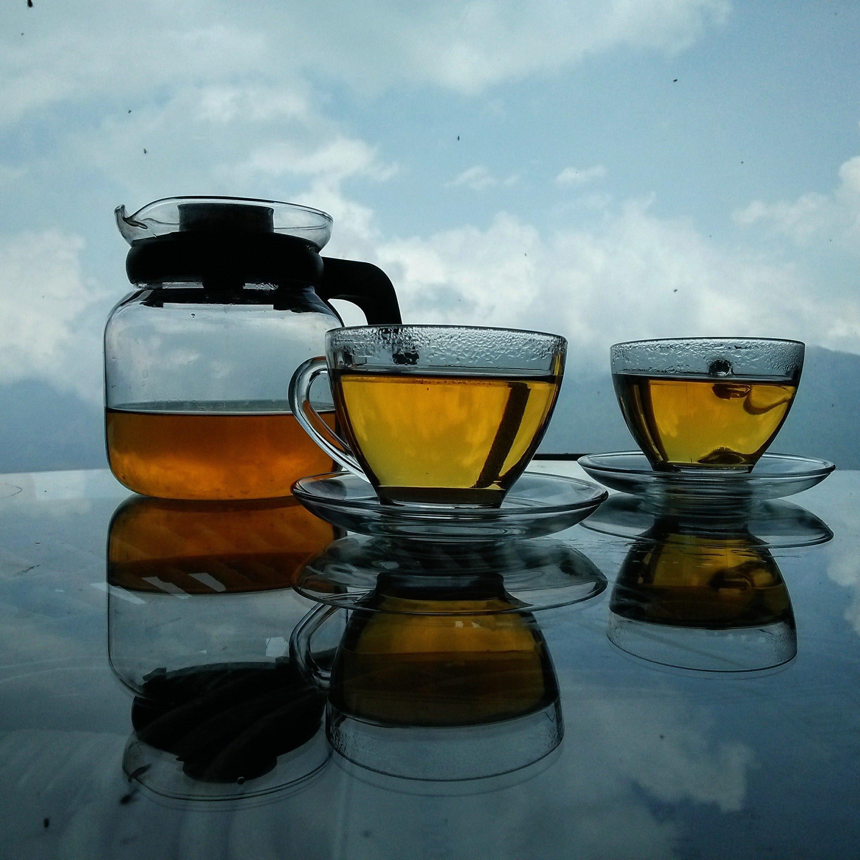 Tea with Himalaya view