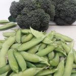 Broccoli and Peas, permaculture