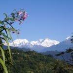 Sikkim landscape with Khangchendzonga