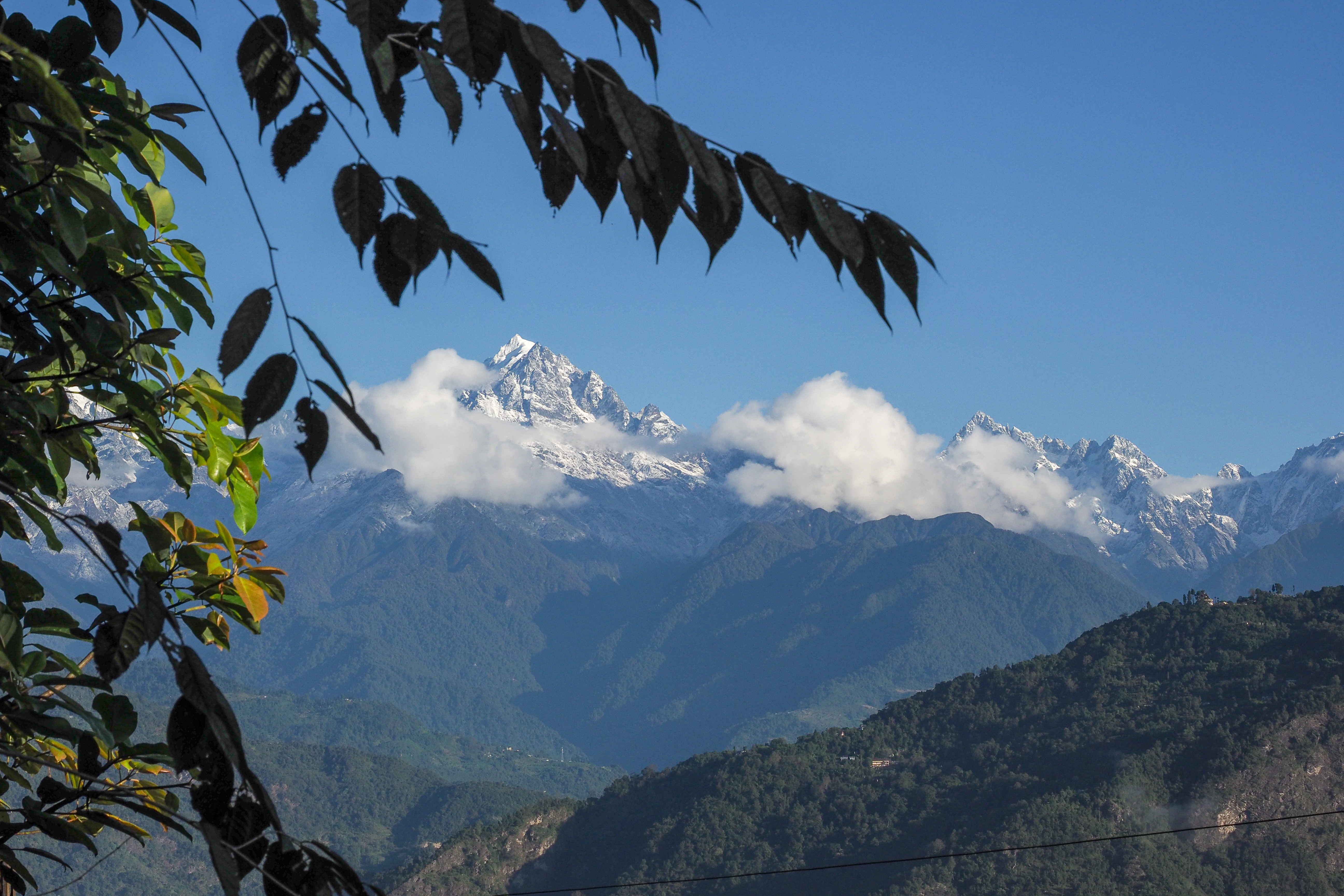 View of the Himalaya Mountains