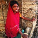 Bangladesh, little girl in a fishing village